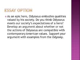 the odyssey review notes ppt  19 essay option as an epic hero odysseus