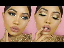 new years eve gold glitter makeup tutorial melly sanchez audiomania lt