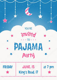 sleepover template pajama sleepover kids party invitation card or poster template