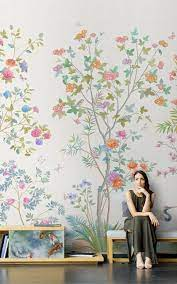 Chinoiserie Mural Wallpaper Repeat ...