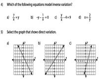 Direct Variation Chart Direct Variation And Inverse Variation Worksheets