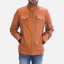 Light Brown Leather Jacket Mens Hans Tan Brown Leather Jacket