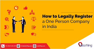 How To Register A Company How To Legally Register A One Person Company Corporate Law