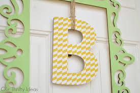 front door hangingsUnique door hanging  Our Thrifty Ideas