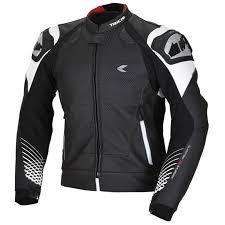 rs taichi gmx lite vented leather jacket rsj829 black white colour