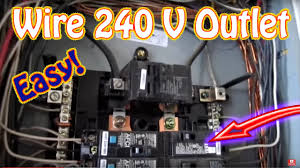 how to wire a 240 volt outlet diy install 220 and circuit breaker how to wire a 220v plug with 4 wires at How To Wire 220 Volt Outlet Diagram