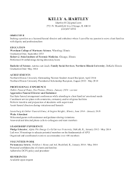 funeral director resume kelly a hartley resume 1
