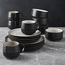 black dinnerware sets. Exellent Black 18th Street 16Piece Dinnerware Set With Cereal Bowl And Black Sets S