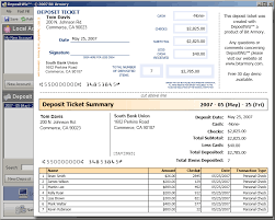 deposit slip examples deposit slip software print bank deposit slips from your computer