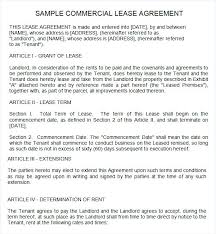 Short Term Commercial Lease Agreement Template Free Word Documents ...