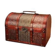 toy chest with lock retro lattice section to send copper money wind map password lockable box
