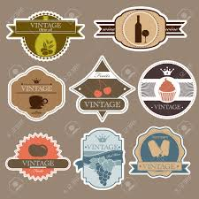 Vintage Food Labels Vintage Food Labels Set Royalty Free Cliparts Vectors And Stock