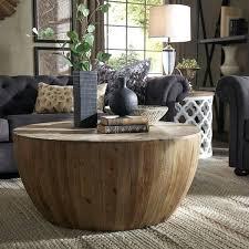 drum coffee table drum reclaimed woodblock barrel coffee table by inspire q artisan hammered metal drum