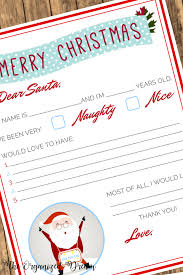 Christmas Wish List Printable Free Christmas Wish List Printable The Organized Dream 15