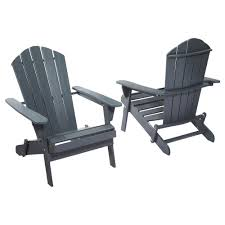 graphite folding outdoor adirondack chair 2 pack 2 1 1088gra the home depot