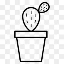 Free Download Book Black And White Cactus Black And White Png
