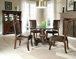 round glass breakfast table set dining table with leather chairs small kitchen dining sets formal glass