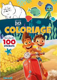 Disney Pixar Luca - Coloriage avec plus de 100 stickers (Coloriage avec  stickers) (French Edition): Collectif: 9782508050251: Amazon.com: Books