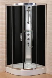 curved corner shower enclosure full chrome aluminum frame w shower head
