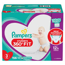 Pampers Cruisers 360 Fit Diapers Size 3 156 Count Walmart Com