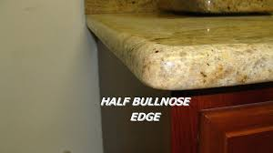 half bullnose edge granite full countertops edges profiles