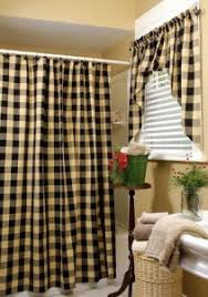 cream and black shower curtain. britches n bows country cream and black shower curtain