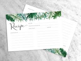Evergreen Recipe Cards