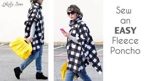 Fleece Poncho Pattern With Hood Custom How To Sew A Fleece Poncho With A Cowl Neck YouTube
