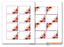 Fall Place Cards Free Printable Thanksgiving Place Cards I Should Be