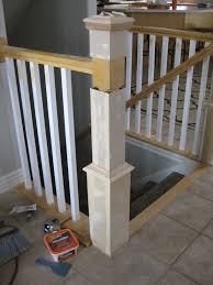 Build Newel Post Stair Banister Renovation Using Existing Newel Post And Handrail