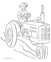 Farm Tractor To Color 008 Asa Activities Farm Coloring Pages