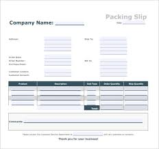 Packing Slip Sample 6 Documents In Pdf