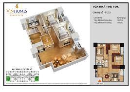 apartment 3 bedroom. không gian căn hộ 3 ngủ tòa t8, t9 times city apartment bedroom