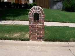 brick mailbox flag. Prefab Brick Mailbox Flag