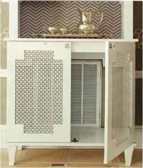 diy window grilles how to hide an ugly vent with a cool furniture piece with perforated