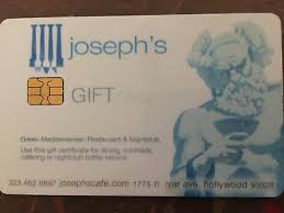 gift card for joseph s cafe west hollywood