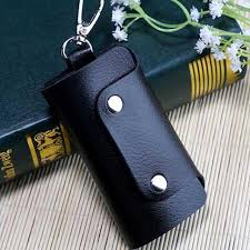 uniego new women men car key holder hasp key wallet fashion pu leather keys organizer pouch bag housekeeper keychain hb247n my wallet front pocket wallet