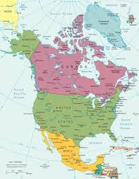 continent of america map. Delighful Continent North America Political With Continent Of Map World Maps