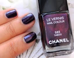 chanel nail polish. chanel taboo le vernis nail colour swatch polish