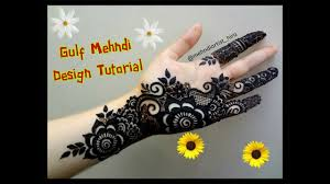 Beautiful Khaleeji Dubai Gulf Arabic Palm Henna Mehndi Designs For