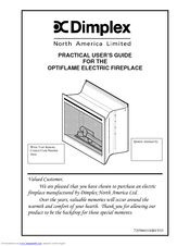 Dimplex Optiflame Electric Fireplace Manuals