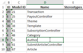 excel modeling how to edit model elements with excel
