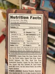 always read the nutrition facts if you look closely at the ings of the clif