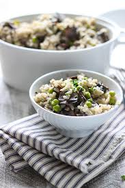 slow cooker mushroom risotto the