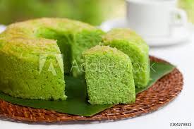 Photo Art Print Pandan Chiffon Cake Traditional Indonesian Desert