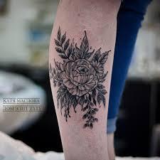 татуировки пион в стиле блекворк дотворк черно серая лайнворк