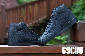 choose new series nike blazer mid metric qs black mens tops shoes leather