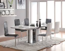 Granite Kitchen Table Sets Coaster 120941 Broderick Contemporary 7 Pcs White Dining Table Set