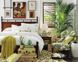 Bright and colorful tropical bedroom