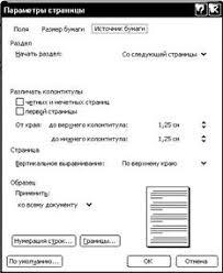 Общие требования Правила оформления дипломной работы Рисунок 3 Диалоговое окно Параметры страницы